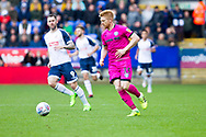 Paul McShane of Rochdale in action during the EFL Sky Bet League 1 match between Bolton Wanderers and Rochdale at the University of  Bolton Stadium, Bolton, England on 19 October 2019.