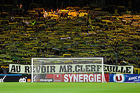 Supporters Nantes - Hommage Jean CLERFEUILLE - 31.01.2015 - Nantes / Lille - 23eme journee de Ligue 1 -<br />