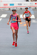 Honami Maeda wins the women's race in 2:25:15 during the Marathon Grand Championship, Sunday Sept. 15 2019, in Tokyo. (Agence SHOT/Image of Sport)