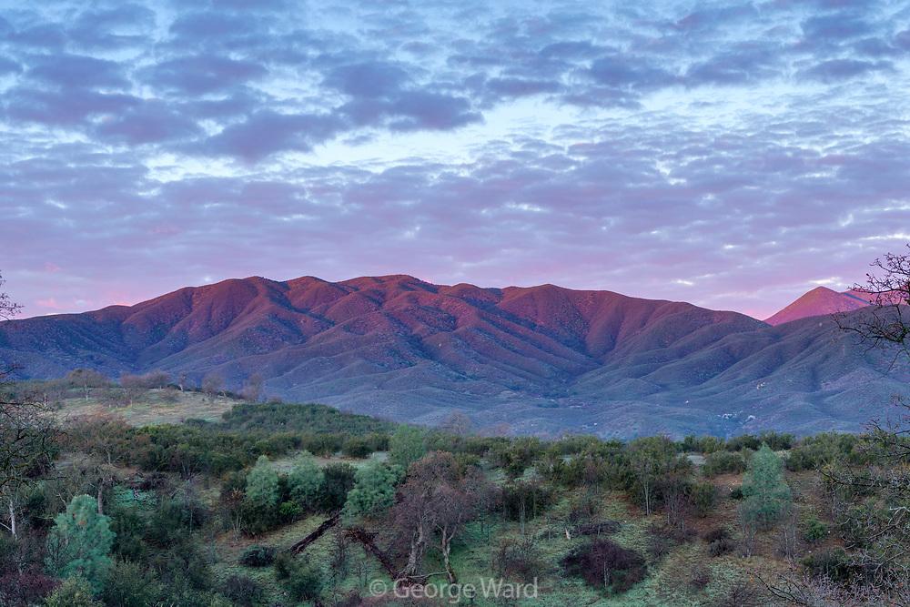 Dawn over the La Panza Range, Los Padres National Forest, San Luis Obispo County, California