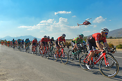 October 14, 2017 - Izmir, Turkey - Boy Van Poppel (Right) from Trek-Segafredo Team leads the peloton during the fifth stage - the 166 km Vestel Selcuk to Izmir, the second last stage of the 53rd Presidential Cycling Tour of Turkey 2017..On Saturday, 14 October 2017, in Izmir, Turkey. (Credit Image: © Artur Widak/NurPhoto via ZUMA Press)