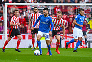 Ben Close of Portsmouth (33) in action during the EFL Sky Bet League 1 first leg Play Off match between Sunderland and Portsmouth at the Stadium Of Light, Sunderland, England on 11 May 2019.