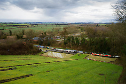 The old disused inclined plane at Foxton Locks, Grand Union Canal, Leicestershire, England, United Kingdom.
