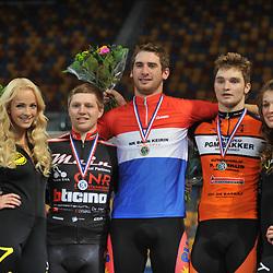 Wielrennen Apeldoorn NK Baanwielrennen 2012-2013 - huldiging: