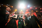 De film Black Butterflies is de grote winnaar van de Gouden Kalveren. Op de foto vlnr Richard Claus,  hoofdrolspeelster Carice van Houten, Frans van Destel, Ary Voorsmit en Arnold Heslenfeld. Op de laatste avond van het Nederlands Film Festival NFF worden de Gouden Kalveren uitgereikt, Nederlands hoogste filmprijs.<br /> <br /> Winners of the movie Black Butterflies, with left Carice van Houten. The Gouden Kalf (Golden Calf), the award for the best movie, is presented at the gala on the last evening of the Nederlands Film Festival in Utrecht. Carice van Houten won her fifth Gouden Kalf, a record.