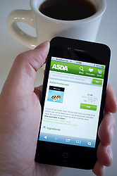 Shopping at Asda online on an iPhone 4G smart phone