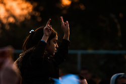 sbury Park, London, March 22 2015. Thousands of London's Kurdish community gather for Newroz, their traditional New year's celebrations. The exiled community mourns the death of Londoner and ex Royal Marine Erik Konstandinos Scurfield, a hero to them, who was killed fighting ISIS, and whose mother Vasiliki Scurfield addressed the crowd.