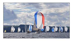 Largs Regatta Week 2011..Class 1 Playing FTSE leads the fleet downwind