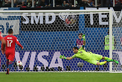 July 2, 2017 - Saint Petersburg, Russia - Claudio Bravo of the Chile national football team vie for the ball during the 2017 FIFA Confederations Cup final match between Chile and Germany at Saint Petersburg Stadium on July 02, 2017 in St. Petersburg, Russia. (Credit Image: © Igor Russak/NurPhoto via ZUMA Press)