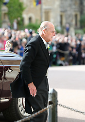 The Duke of Edinburgh arrives ahead of the wedding of Princess Eugenie to Jack Brooksbank at St George's Chapel in Windsor Castle.