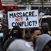 London, Nakba73 March to the Israeli Embassy
