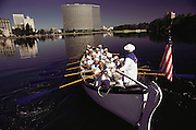 Women's rowing club on Lake Merritt in downtown Oakland, California.
