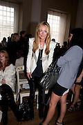 CAT DEELEY, Julian Macdonald fashion show. Banqueting House. London. 19 September 2010. -DO NOT ARCHIVE-© Copyright Photograph by Dafydd Jones. 248 Clapham Rd. London SW9 0PZ. Tel 0207 820 0771. www.dafjones.com.