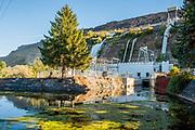 Hydrolic Power Facility at Thousand Springs, Ritter Island in Hagerman, Idaho.