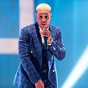 NLD/Amsterdam/20190212- Uitreiking Edison Pop 2019, Rapper Bizzey