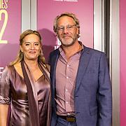 NLD/Amsterdam/20191007 - Premiere van De Alex Klaasen Revue - Showponies 2, Martine Sandifort en partner Rick Schuit