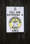 A3AAY1 Neighbourhood Watch area notice
