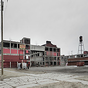 Detroit, U.S, Michigan, 2019:  Part of buildings of the old  Great Packard Plant -Complex- on Concorde Ave, Detroit, Michigan, United States. Signed and editioned prints available at 50x40cm. Get and touch, for commercial uses or other sizes.. Photographs by Alejandro Sala | Visit Shop Images to purchase and download a digital file and explore other Alejandro-Sala images…
