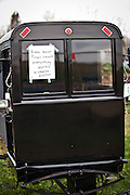 Amish buggy ready for auction during the Annual Mud Sale to support the Fire Department  in Gordonville, PA.