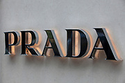 Sign for high end fashion and exclusive brand Prada.