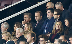 Manchester United executive vice-chairman Ed Woodward (centre) in the stands during the Premier League match at Old Trafford, Manchester.