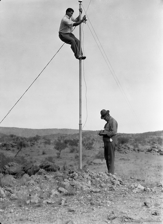 Tapping the Overland Wire,  Alice Springs, Central Australia, 1930