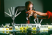 Bernard Chant, head perfumer for International Flavors & Fragrances test his perfumes on humans as well as testing strips because the PH levels differ from person from person and changes the way a smell is perceivied.