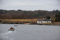 The boathouse on the island of Ulva. Feature on the community on the island of Ulva, who have been awarded £4.4m in funding for their island buyout.