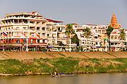 17 MARCH 2006 - PHNOM PENH, CAMBODIA: The waterfront area along the Tonle Sap River in Phnom Penh, Cambodia. Photo by Jack Kurtz / ZUMA Press