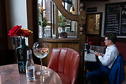 The Viaduct Tavern gin bar on the 3rd October 2019 in London in the United Kingdom.