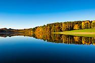 Colorful season and scenic landscape, Auvergne, France.