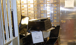 Undated handout photo issued by the Metropolitan Police of the inside of the vault at the Hatton Garden Safe Deposit company. Carl Wood, William Lincoln and Hugh Doyle have been convicted at Woolwich Crown Court of involvement in the Hatton Garden raid, believed to the largest burglary in British legal history in which jewellery and valuables worth an estimated £14 million were stolen.