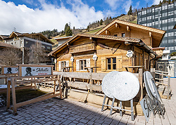 22.03.2020, Gerlos, AUT, Coronavirus in Österreich, Zillertaler Apres Ski Gäste sollen sich melden, dass Land Tirol bittet in einem dringenden Aufruf alle, die von 8. bis 15. März Bars und Apres-Ski-Lokale im Zillertal besucht haben, sich zu melden. Neun Lokale sind betroffen, außerdem zwei Hotels und eine Pension, im Bild Apres Ski Skihütte // Apres Ski Skihutte. Zillertal apres-ski guests are to report that the province of Tyrol is urgently calling on everyone who visited bars and apres-ski venues in the Zillertal from 8 to 15 March to report. Nine bars and restaurants are affected, as well as two hotels and a guesthouse, the Austrian government is pursuing aggressive measures in an effort to slow the ongoing spread of the coronavirus. Gerlos, Austria on 2020/03/22. EXPA Pictures © 2020, PhotoCredit: EXPA/ Johann Groder