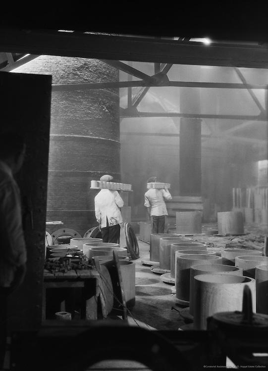 On the Way to the Kiln, Doulton's Pottery, England, 1928