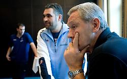 Boris Denic and Head Coach  of Slovenian team Zvonimir Serdarusic Noka at meeting with press during the Men's Handball European Championship on January 23, 2009 in Hotel Grauerbar, Innsbruck, Austria. (Photo by Vid Ponikvar / Sportida) - on January 2010
