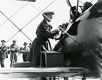 1920 Charles Ray at the Chaplin Airdrome at Wilshire Blvd. & Fairfax Ave