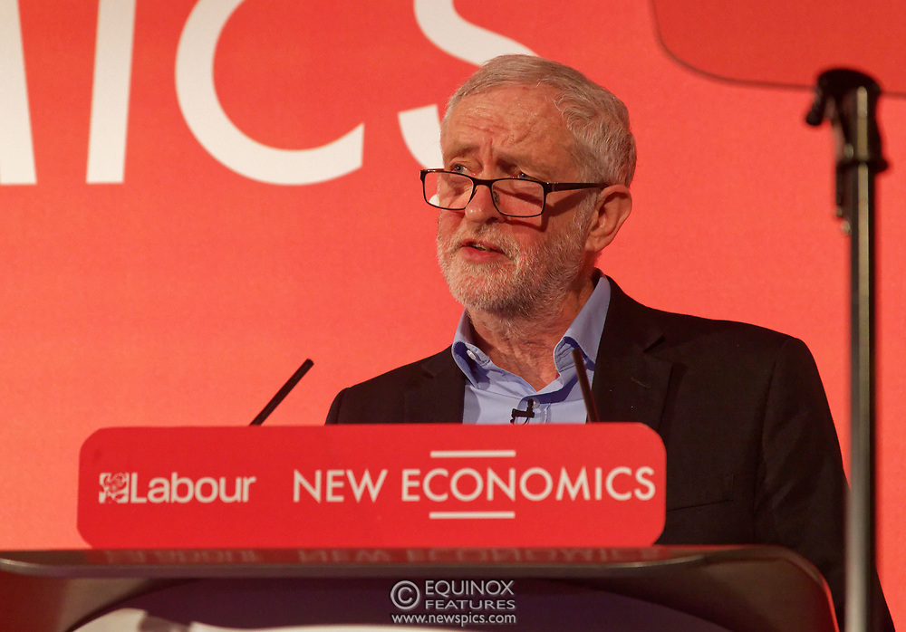 London, United Kingdom - 10 February 2018<br /> Leader of the Labour Party Jeremy Corbyn, speaking at the Labour Party's Alternative Models of Ownership Conference where he spoke about new 21st century forms of democratic ownership of industries.<br /> www.newspics.com/#!/contact<br /> (photo by: EQUINOXFEATURES.COM)<br /> Picture Data:<br /> Photographer: Equinox Features<br /> Copyright: ©2018 Equinox Licensing Ltd. +448700 780000<br /> Contact: Equinox Features<br /> Date Taken: 20180210<br /> Time Taken: 15554563