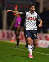 Preston North End's Sean Maguire<br /> <br /> Photographer Dave Howarth/CameraSport<br /> <br /> The Carabao Cup Third Round - Preston North End v Brighton and Hove Albion - Wednesday 23rd September 2020 - Deepdale - Preston<br />  <br /> World Copyright © 2020 CameraSport. All rights reserved. 43 Linden Ave. Countesthorpe. Leicester. England. LE8 5PG - Tel: +44 (0) 116 277 4147 - admin@camerasport.com - www.camerasport.com