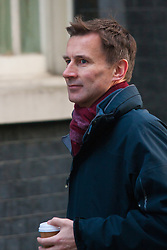 London, February 24th 2015. Ministers arrive at the weekly cabinet meeting at 10 Downing Street. PICTURED: Health Secretary Jeremy Hunt.