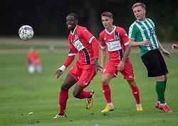 Brandon Onkony (FC Helsingør) under kampen i Sydbank Pokalen, 1. runde, mellem Bispebjerg Boldklub og FC Helsingør den 2. september 2020 i Lersø Parken (Foto: Claus Birch).