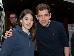 Bristol City Goalkeeper, Frank Fielding poses for a photo with fans - Photo mandatory by-line: Dougie Allward/JMP - Mobile: 07966 386802 - 11/03/2015 - SPORT - Football - Bristol - Cabot Circus Shopping Centre - Johnstone's Paint Trophy