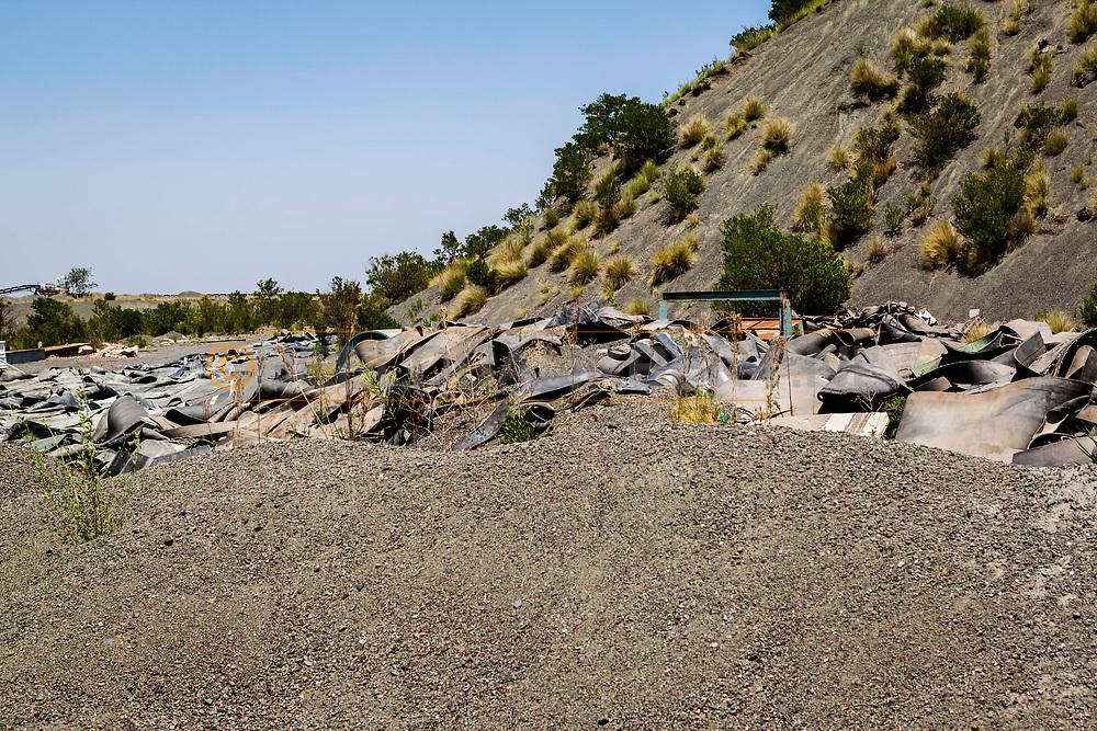 13-02-2016 -  Foto Cullinan diamantmijn: afval wordt bewaard. Genomen tijdens tour bij Petra Cullinan Diamantmijn in Cullinan, Zuid-Afrika.