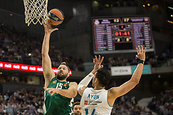 April 25, 2018 - Madrid, Madrid, Spain - Ian Vougioukas during Real Madrid victory over Panathinaikos Athens (81 - 74) in Turkish Airlines Euroleague playoff series (game 3) celebrated at Wizink Center in Madrid (Spain). April 25th 2018. (Credit Image: © Juan Carlos GarcíA Mate/Pacific Press via ZUMA Wire)