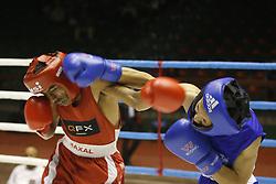 November 21, 2018 - Kathmandu, Nepal - Boxers fight during a novice boxing tournament in Kathmandu, Nepal on Wednesday, November 21, 2018. (Credit Image: © Skanda Gautam/ZUMA Wire)