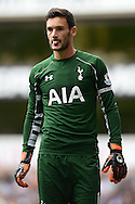 Goalkeeper Hugo Lloris, the Tottenham Hotspur captain looking on. Barclays Premier league match, Tottenham Hotspur v Stoke city at White Hart Lane in London on Saturday 15th August 2015.<br /> pic by John Patrick Fletcher, Andrew Orchard sports photography.