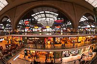 Leipzig Central Station shopping arcade, Leipzig, Saxony, Germany