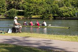 Rowing on the River Thames, Berkshire UK 2014 UK