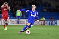 Jonathan Williams  of Ipswich Town in action.Skybet football league championship match, Cardiff city v Ipswich Town at the Cardiff city stadium in Cardiff, South Wales on Tuesday 21st October 2014<br /> pic by Andrew Orchard, Andrew Orchard sports photography.