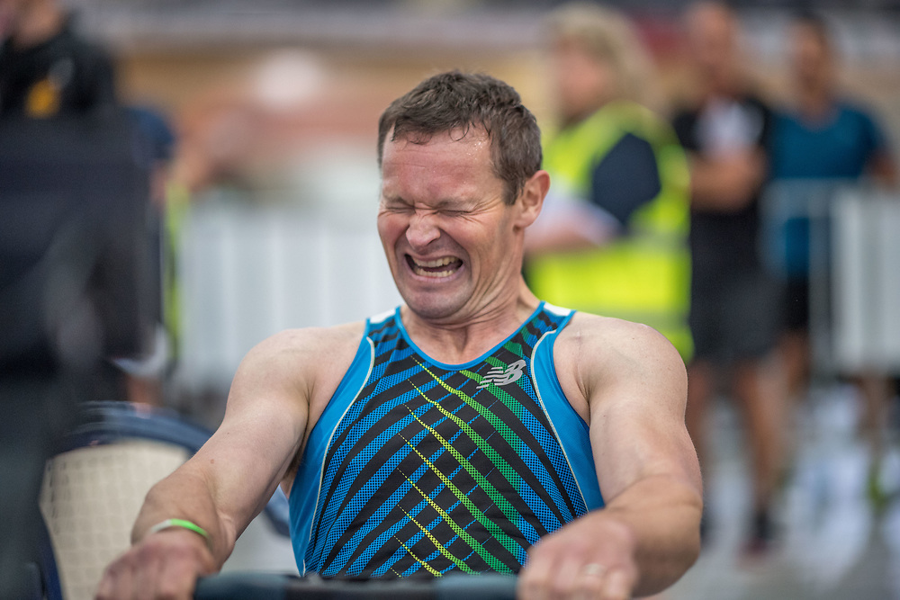 Justin Read MALE HEAVYWEIGHT Masters C 2K Race #1 08:30am<br /> <br /> www.rowingcelebration.com Competing on Concept 2 ergometers at the 2018 NZ Indoor Rowing Championships. Avanti Drome, Cambridge,  Saturday 24 November 2018 © Copyright photo Steve McArthur / @RowingCelebration