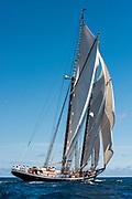 Bermuda, 14th June 2017. America's Cup Superyacht regatta. Race two. Colombia.